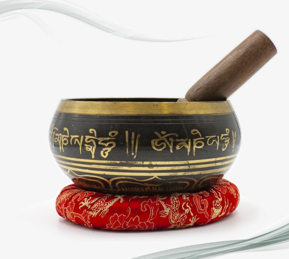 Cuenco tibetano de meditación - Ojos de Buddha