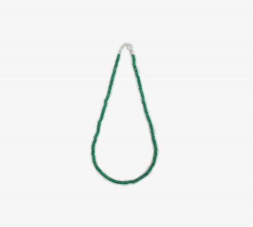Ónix verde facetado collar