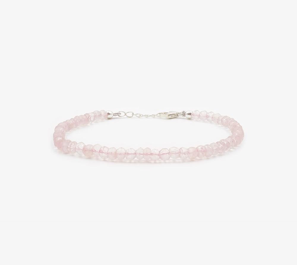 Cuarzo rosa facetado pulsera