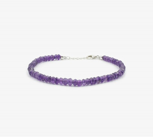 Amatista facetada pulsera